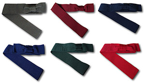 Traditional Boys Grosgrain Boater Bands With Side Bow In Various Colours