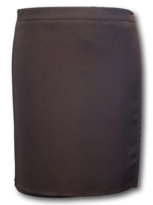 Traditional Brown Pleated Wrap Around Games Skirt - 36