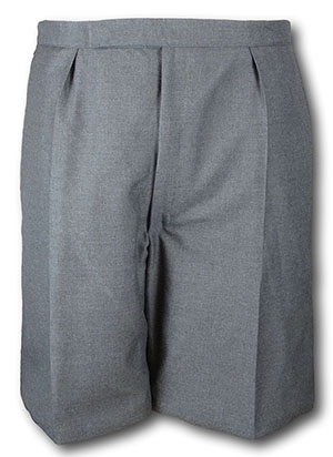 Classic School Grey Wool Worsted Short Trousers With An Elastic Back