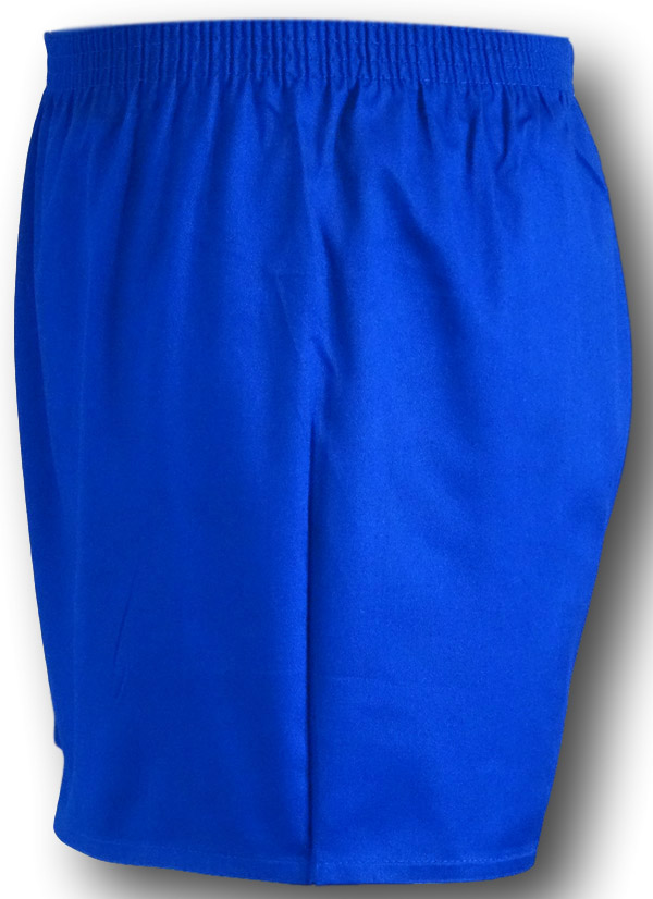 Cotton P E Shorts In Royal Blue Or Black