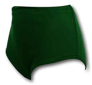 Bottle Green Double Gusset Girls School Knickers by David Luke