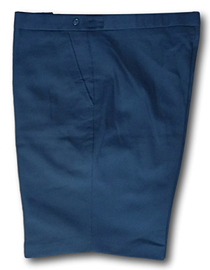 Navy Wool Worsted Short Trousers - 38