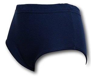 Navy Blue Double Gusset Girls School Knickers by Albert Prendergast