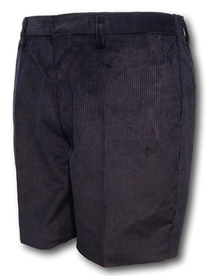 Navy Blue 'Classic' Corduroy Short Trousers With An Elasticated Back By 'David Luke'