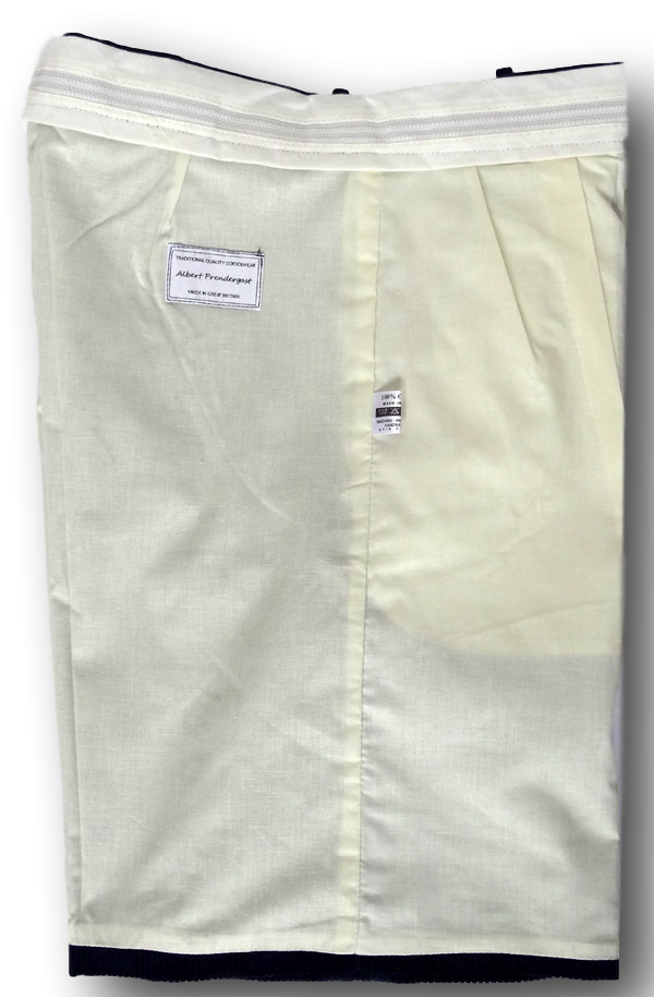 Boy Scout Navy Blue Corduroy Short Trousers With Button