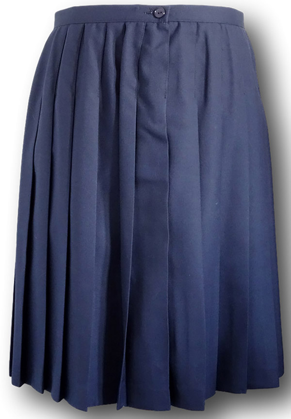 navy blue all around single pleated school skirt