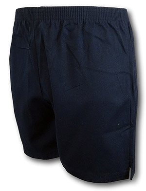 Navy Blue Traditional Twill P.E. & Games Shorts In By 'David Luke'