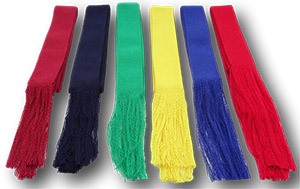 Traditional Gymslip Sash - Available In A Range Of Colours