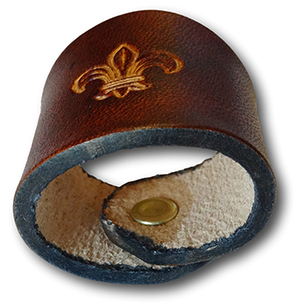 Traditional Boy Scout Leather Woggle