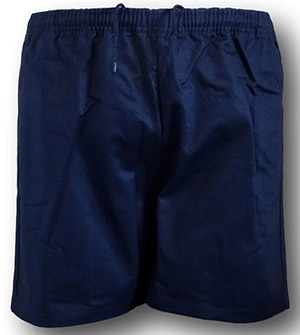 Traditional Navy Blue 100% Cotton Twill P.E. & Games Shorts