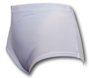 White Double Gusset Girls School Knickers by David Luke