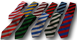 School Ties With Wide Stripes